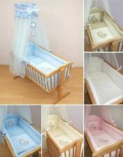 9 Piece Crib Baby Bedding Set 90 x 40 cm Fits Swinging / Rocking Cradle - Moon