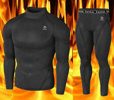 [Tesla] Mens Compression HOTGEAR Base Layer Top & Pants Twin-Pack T22BB P23BB