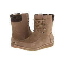 Lacoste Shoes Women Alyson SRW LIGHT Brown Suede Ankle Casual Fashion Boots NEW