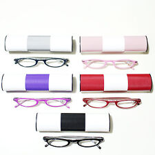 Small Reading Glasses Spring Hinge Reader Glasses w/Colorful Case 2.00 2.25 2.75