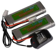 2x 7.2V 5300mAh Ni-MH Rechargeable Battery Pack+Charger
