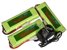 3x 7.2V 3800mAh Ni-MH Rechargeable Battery Pack+Charger