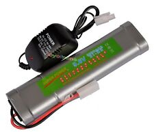 1x 9.6V NiMH 3800mAh Rechargeable Battery Pack Tamiya Plug + Charger