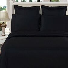 800TC Free Ship Black Solid Sheet Set With Extra Deep & 7 Sizes 100% Pure Cotton