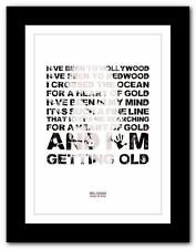 ❤ NEIL YOUNG Heart Of Gold  ❤ song lyrics typography poster art print - A1 A2 A3