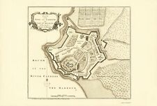 Old South America Map - Cayenne, Fort St Michael, French Guiana 1760 - 23 x 33