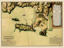 Old South America Map - Concepcion Bay, Chile - Juan 1782 - 23 x 30.98