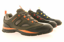 NEW MENS SAFETY WORK BOOTS TRAINERS LIGHTWEIGHT GROUNDWORK STEEL TOE CAP fab603