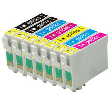 7 Ink Cartridges non-OEM to replace T0807 & T0801 Compatible (1x Set + Black)