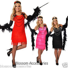 F88A 1920s Charleston Gatsby Flapper Girl Fancy Dress Costume 20s Party Outfit