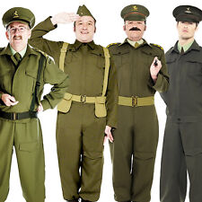 WW2 British Homeguard Soldier Costume Mens 40s Military Armed Forces Fancy Dress