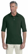Jerzees Men's Moisture Wicing 3/4 Sleeve 3 Button Polyester Polo T-Shirt. 421M