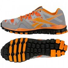 REEBOK REALFLEX TRANSITION 3.0 RUNNING SNEAKERS ORANGE GREY NEW MENS SIZES 8-13