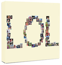 Personalised Word Photo Collage Canvas Name Collage / Montage