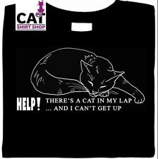 Cat in Lap & Can't Get Up Shirt,  cuddle Kitty Kat snuggle cat shirt, gifts, tee