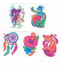 1 x Beautiful Kids Glitter Temporary Tattoos - 5 x designs to choose from