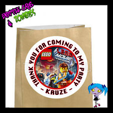 LEGO Movie Opt1 Birthday Party Favor Goody Bag STICKERS - Personalized Loot Bag