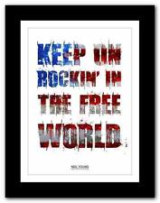 NEIL YOUNG Keep On Rockin' In The Free World #2 ❤ song lyrics poster art print