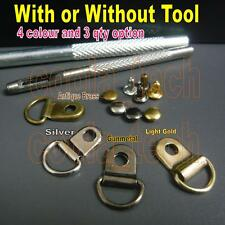 Metal Rivet D Ring Lace Eye Boot Repair Kit w/o or with 1 Fixing Punch hole Tool