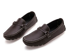 Mens casual Moccasin British Loafer slip on fashion Driving Leather Dress Shoes