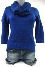 Dolled Up by F.A.N.G. Cobalt Sequin Sweater Juniors NWT