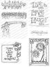 ZENSPIRATIONS DANGLES-Impression Obsession Cling Mount Rubber Stamps-Zentangle