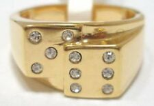 18K GOLD LUCKY DICE DI POKER MENS LAS VEGAS RING size 9 - 14 you choose