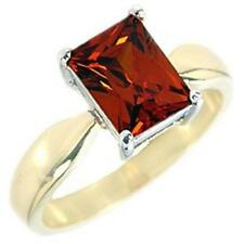 14K GOLD EP 4.5CT GARNET SOLITAIRE RING SIZE 5 - 10 you choose