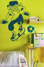 Dreadlocks Skater Kids / Teenager  Wall Sticker & Wall Decal. 60cm x 80cm