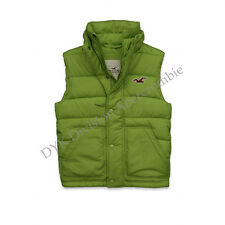 Hollister by Abercrombie Picnic Beach Seagull Men Vest Green Jacket - $0 Ship