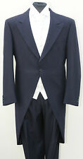 MJ-66 MENS NAVY BLUE WILVORST TAIL COAT - WEDDING, MORNING SUIT, JACKET, ASCOT