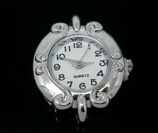 Wholesale HOT!Jewelry Silver Tone Round Quartz Watches Faces 31x27mm