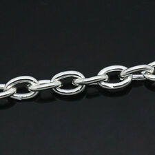 Wholesale HOT! Cable Chains Links-Opened Silver Plated 5mmx3mm B29245