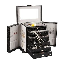 [R]Extra Large Jewelry box Cabinet Armoire Bracelet Rings Beads Storage Case 209