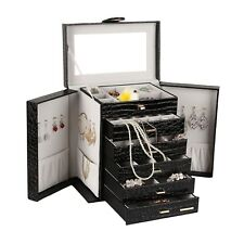 Extra Large Jewelry Watch Box Cabinet Armoire Ring Organizer Chest 6 Layer ZG231