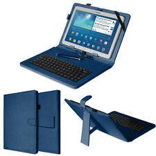 Universal 10 inch Leather Micro USB Keyboard Stand Case Cover For Android Nexus
