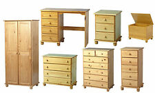 SOLID  PINE WARDROBE OR CHEST OF 4 5 DRAWERS OR BEDSIDE OR DRESSING TABLE