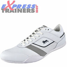 Lonsdale Mens Davis Lace Up Casual Trainers BIG SIZE 13 ONLY White * AUTHENTIC *