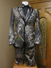 Mossy Oak Tuxedo Package Camoflauge Jacket, Pants, Bow Tie and Vest Prom Groom