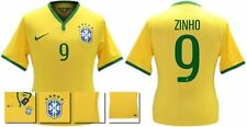 *14 / 15 - NIKE ; BRAZIL PLAYER ISSUE HOME SHIRT SS / ZINHO 9 = SIZE*