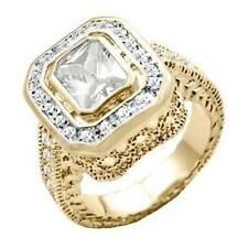 18K GOLD EP 4.95CT DIAMOND SIMULATED COCKTAIL RING size 6 - 10 you choose