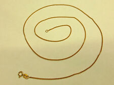 "NEW 9ct Rose Gold Curb Chain 16"",18"" or 20"""