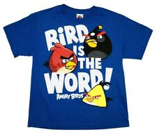 Angry Birds Bird Is The Word Rovio Mobile Video Game Youth T-Shirt Tee