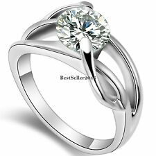 2.0 Ct Round CZ Stainless Steel Infinity Knot Ladies Womens Engagement Ring