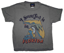 The Smurfs Smurfette Smurfed It In Florida Vintage Style Ladies Soft Weekend Tee