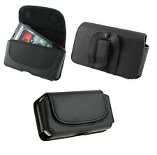 Black Belt Leather Skin Pouch Case Cover for Various Phones Phablet new 2014 1st