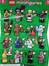 Lego Minifigure Series 11 Figures 71002 SCARECROW Female Scientist GRANDMA Yeti