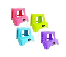 CHILDRENS/KIDS PLASTIC 2 STEP UP STOOL TOILET POTTY TRAINING DISABILITY AID NEW~
