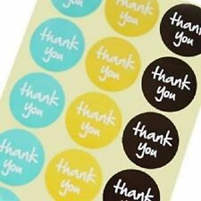 thank you - Craf Stickers - 3 colours- for Card-Making / Home Baking / Gift Wrap