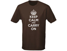 Keep Calm And Carry On Funny Mens T-Shirt (12 Colours)
